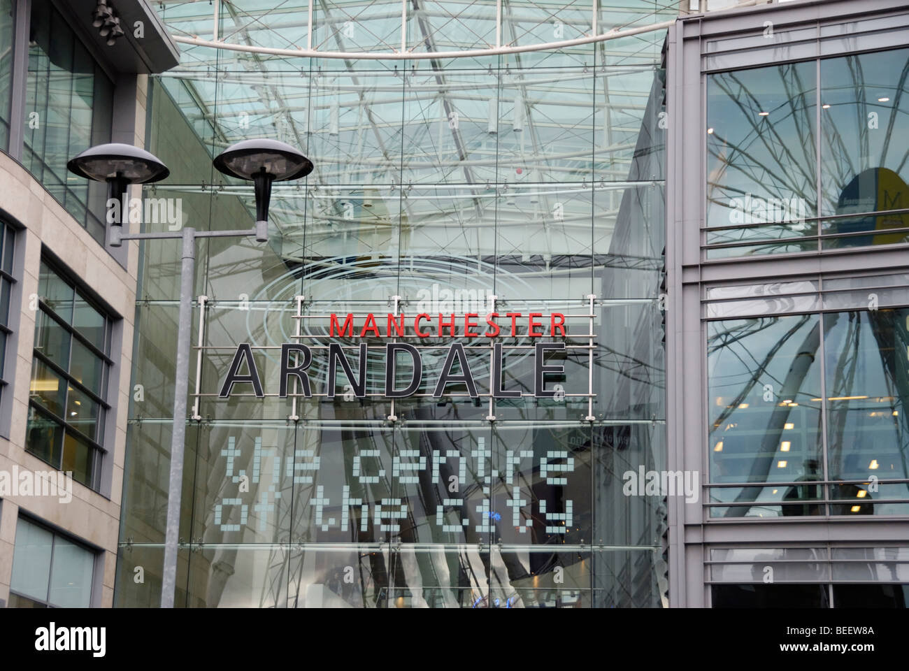 The Manchester Arndale Centre, the main shopping centre in Manchester, England, UK Stock Photo
