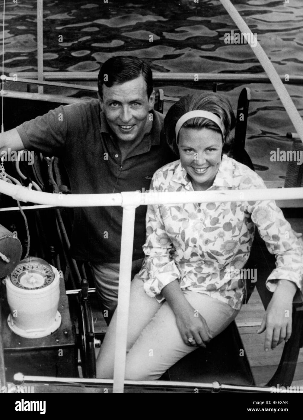 Queen Beatrix of the Netherlands and her husband Claus von Amsberg. Stock Photo