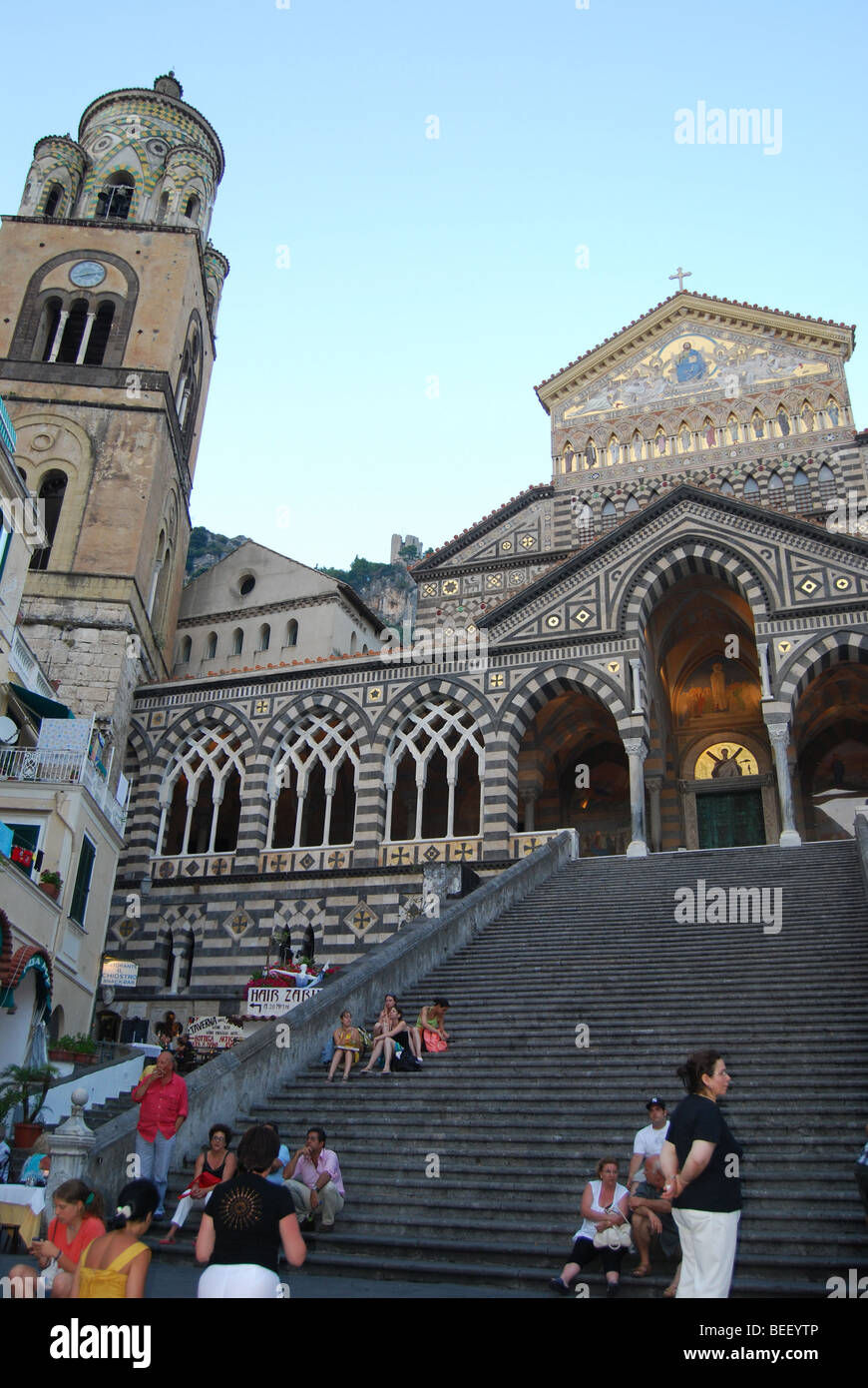 Amalfi town, Italy, 9th century cathedral - Stock Image