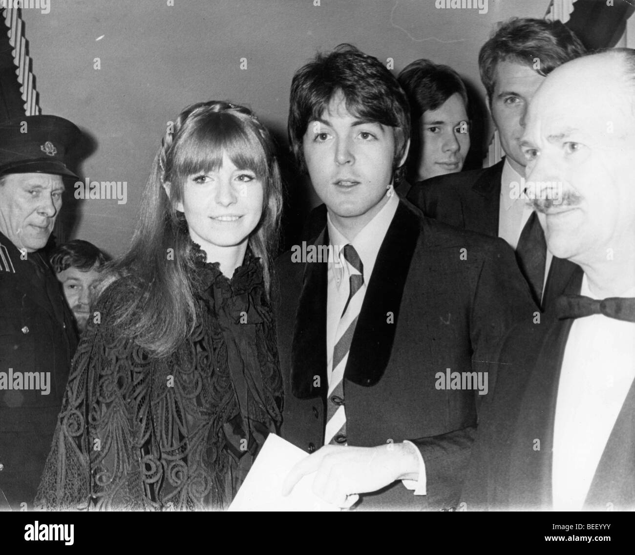 The Beatles Paul McCartney At Premiere With Jane Asher