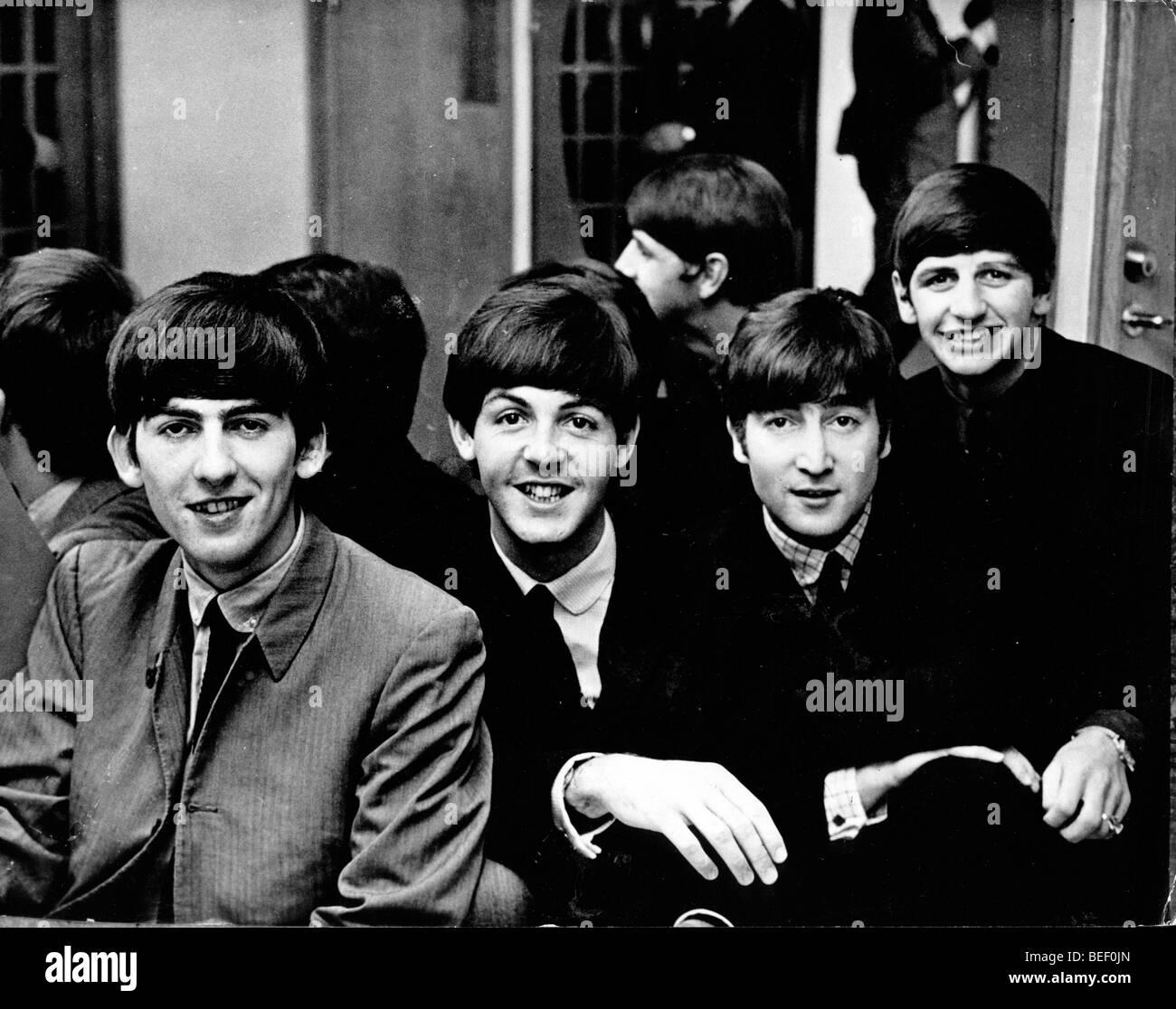 The Beatles - George Harrison, Paul McCartney, John Lennon and Ringo Starr. Stock Photo