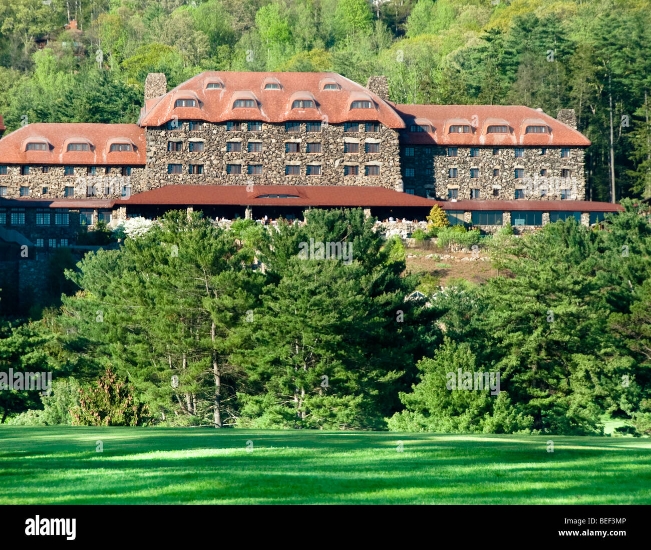 Exterior of the Grove Park Inn, Asheville, North Carolina, USA - Stock Image