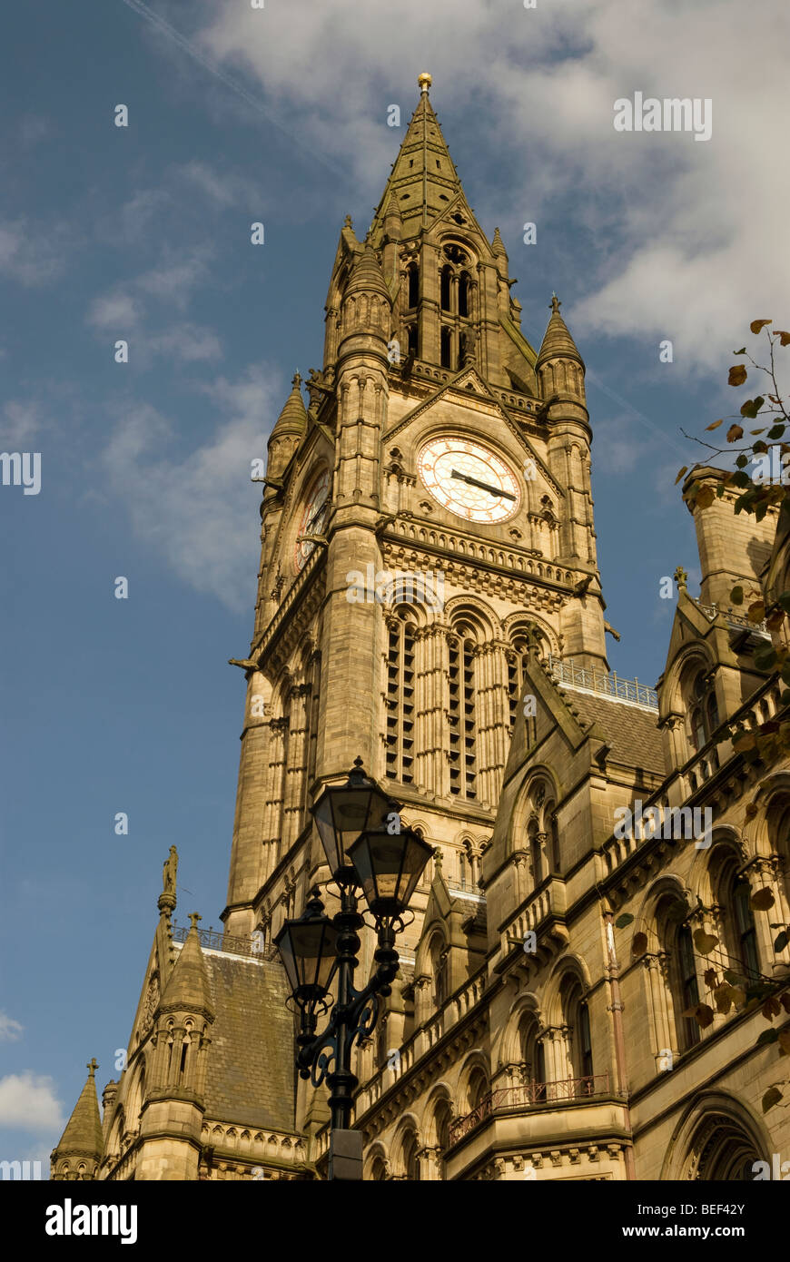 Manchester City Town Hall, Manchester, north west England. - Stock Image