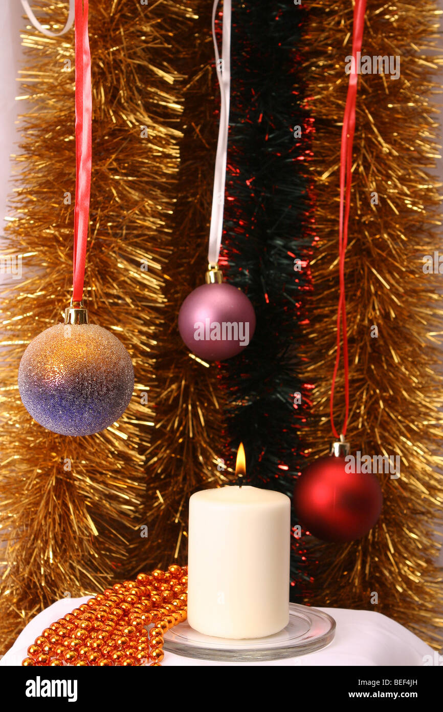 ball, decoration, glare, sparkles, Christmas-tree, decorations, 'New, Year', Christmas, holiday, bauble, - Stock Image