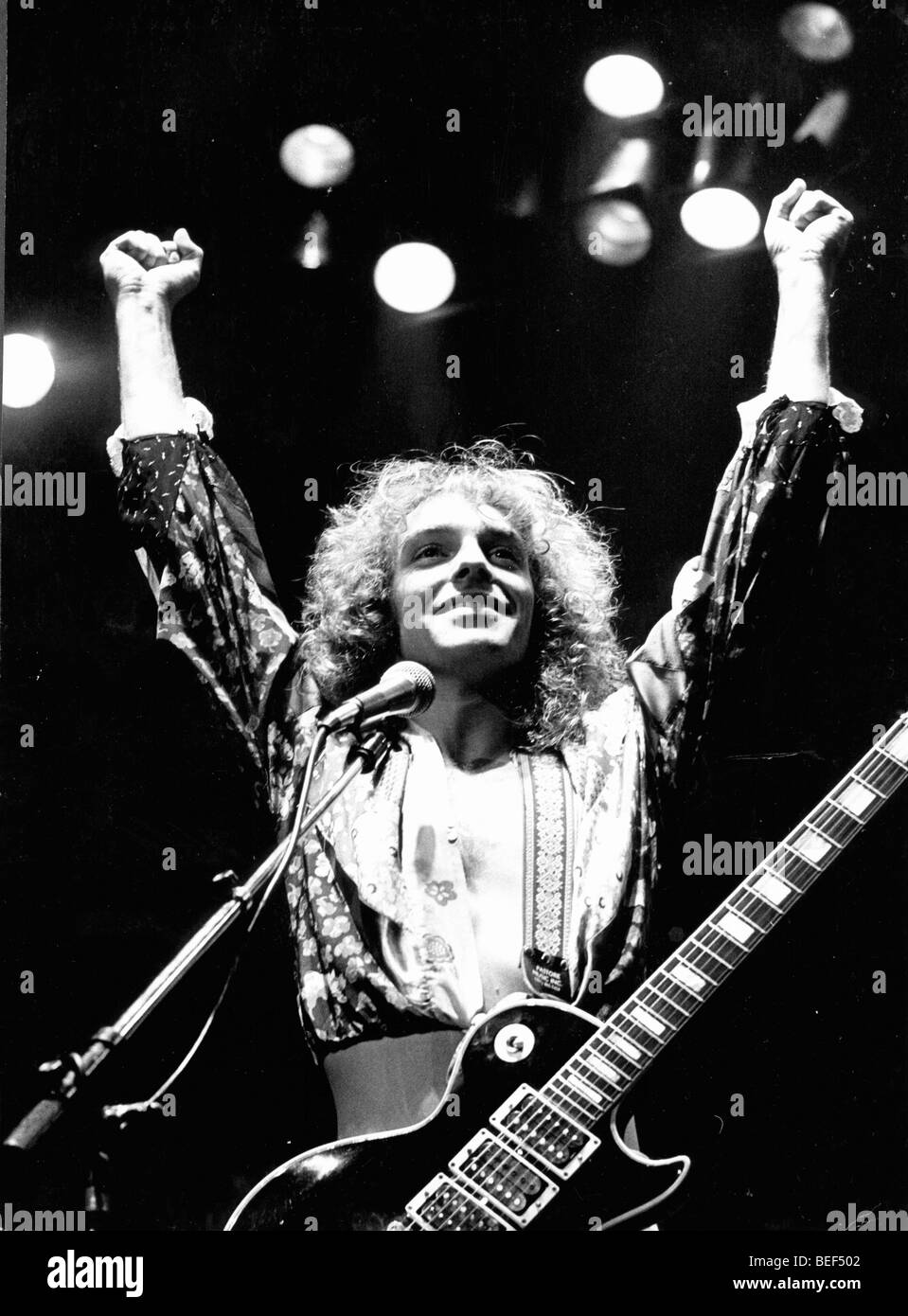 PETER FRAMPTON performs in concert circa 1976. Stock Photo