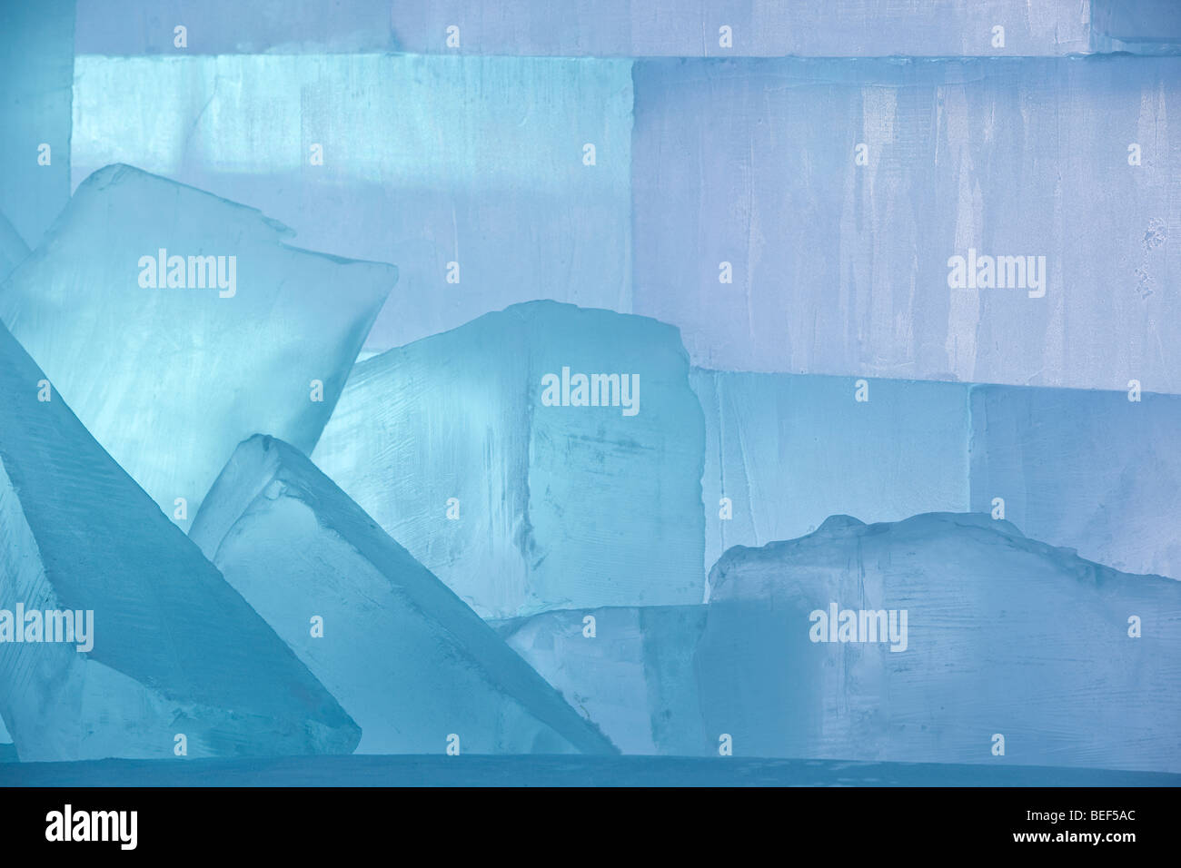 large ice blocks used for building or sculptures