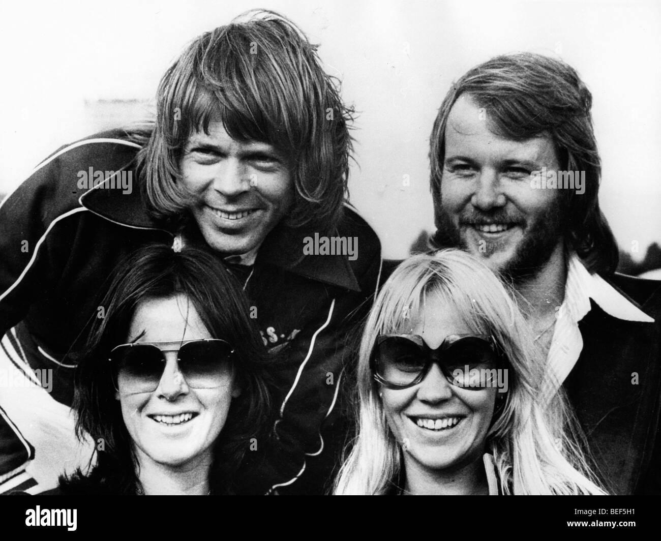 Pop group ABBA begin tour Stock Photo