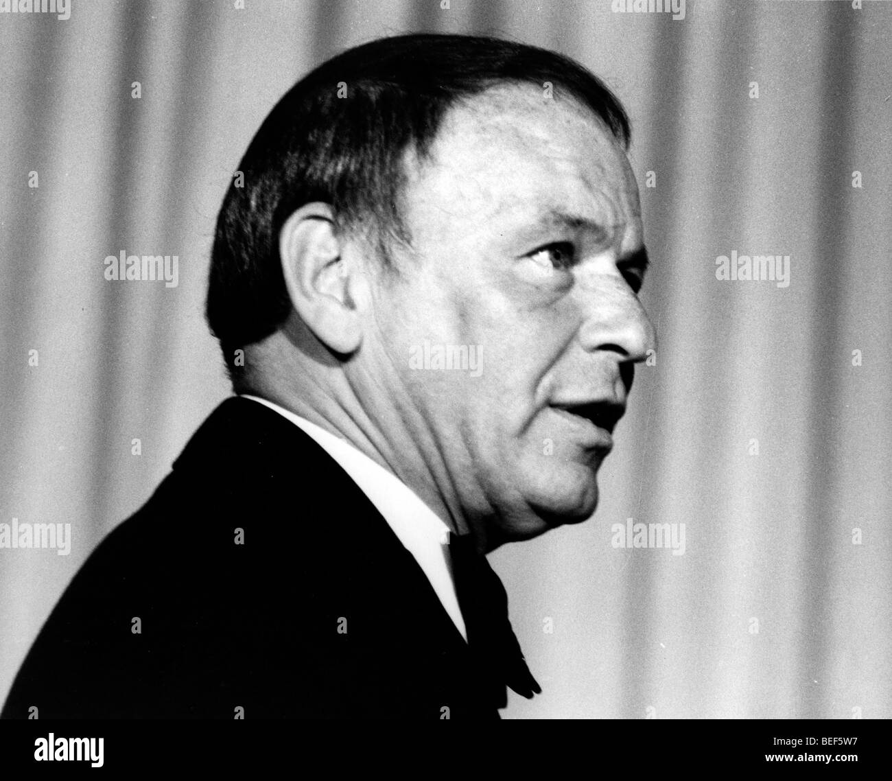 Singer FRANK SINATRA in the late 1970's Stock Photo