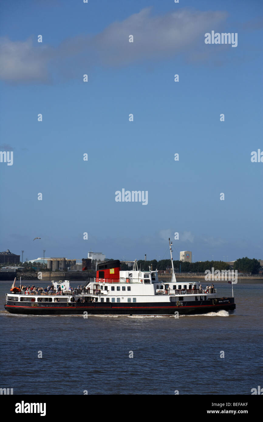 the mersey ferry on the river mersey liverpool merseyside england uk - Stock Image