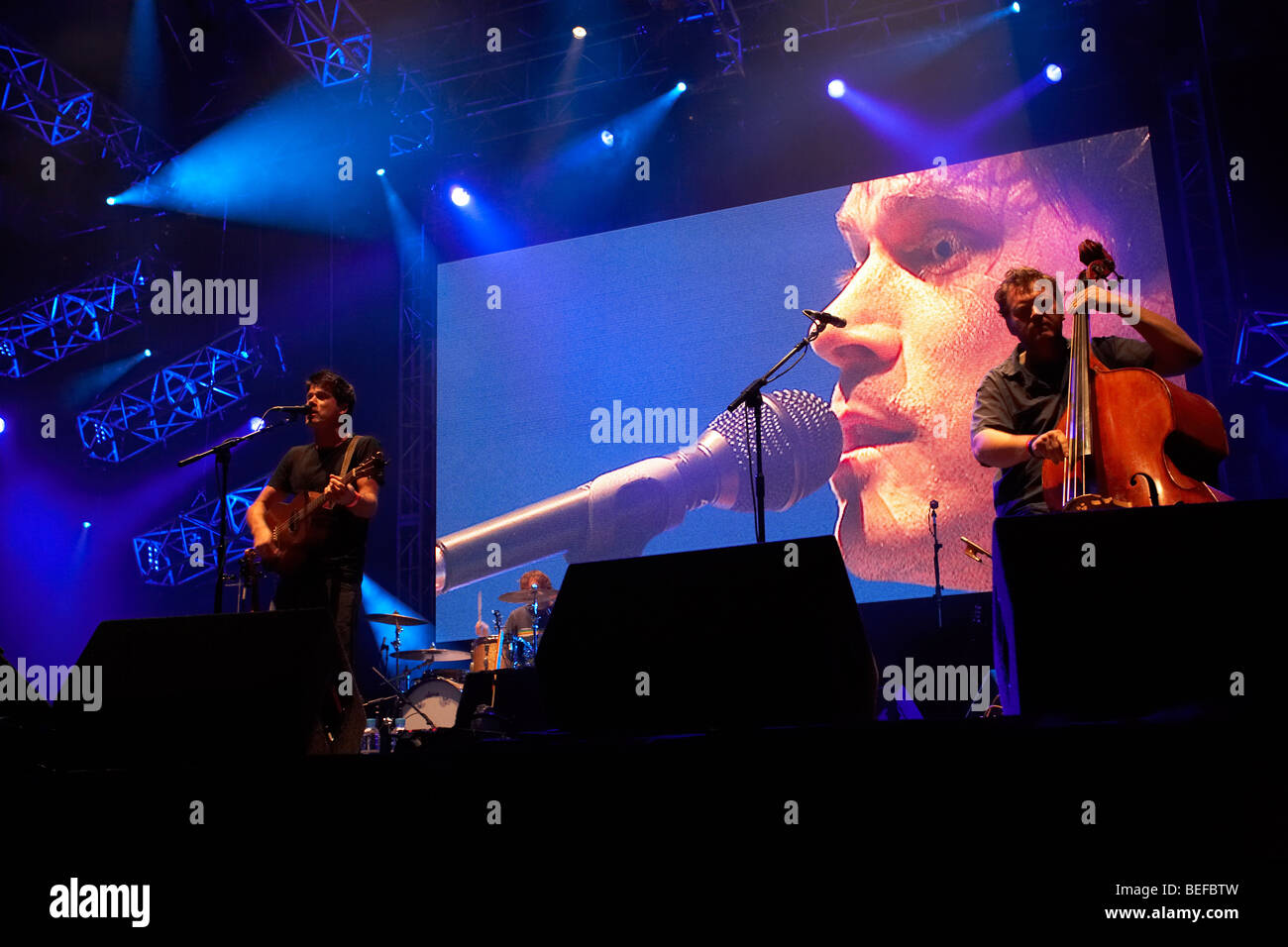 Seth Lakeman at the 2009 Farport Cropredy Convevention - Stock Image