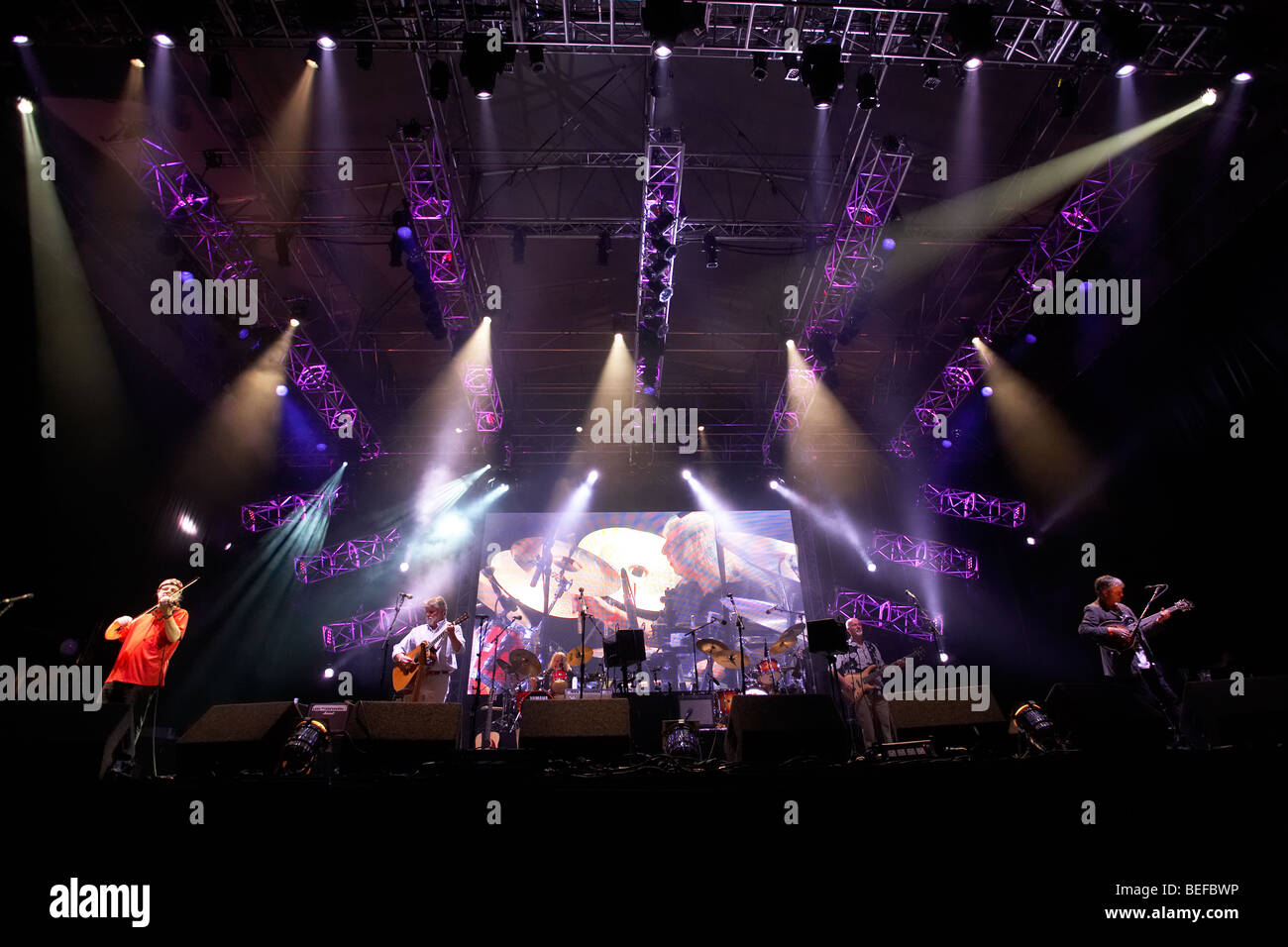 Fairport Convention live at the Cropredy Festival 2009 - Stock Image