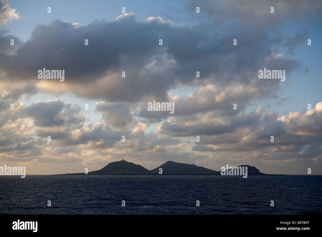 Linosa island on the Mediterranean sea - Stock Image