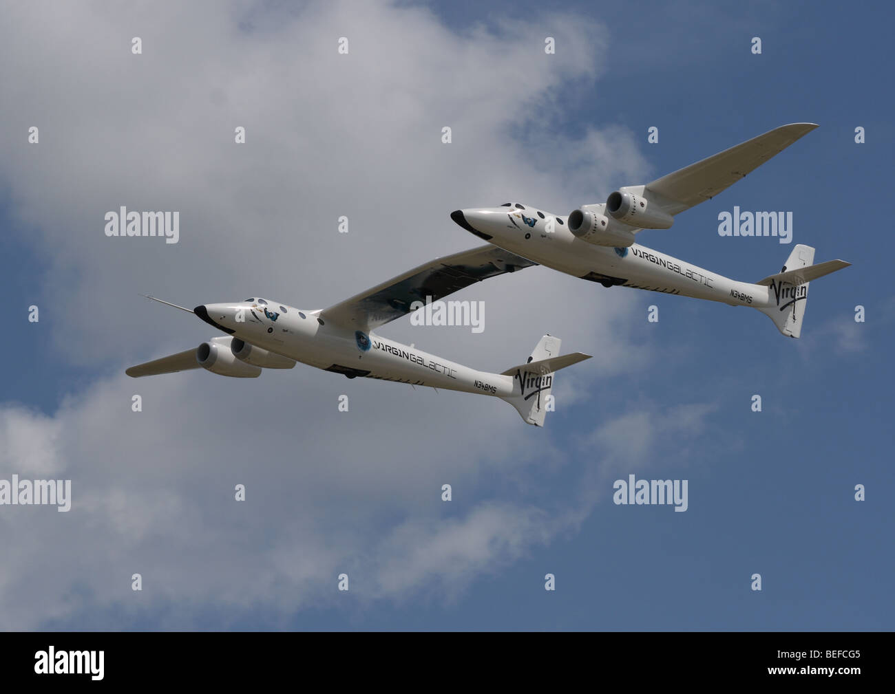 Scaled Composites White Knight Two. - Stock Image