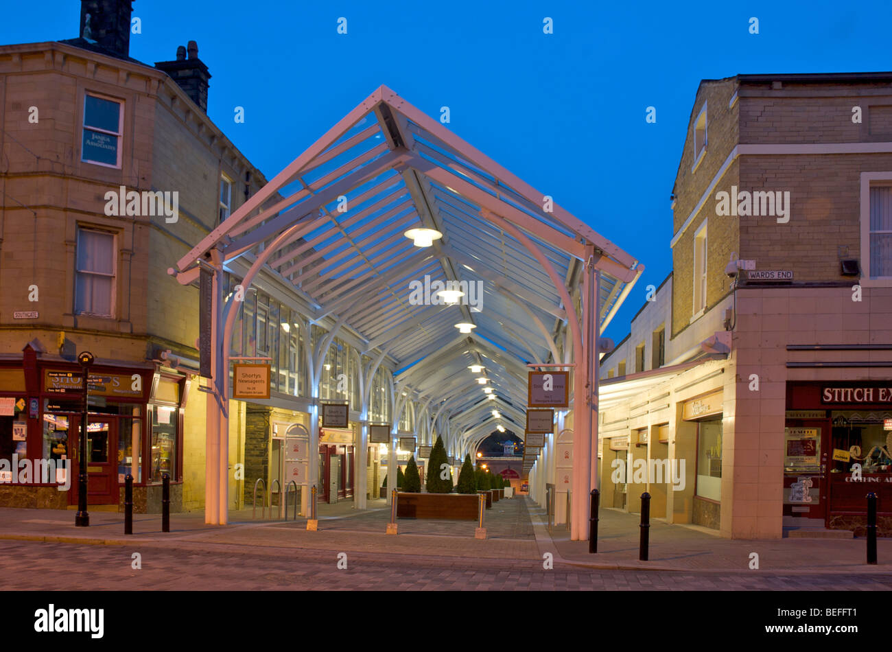 westgate arcade halifax stock photos westgate arcade halifax stock