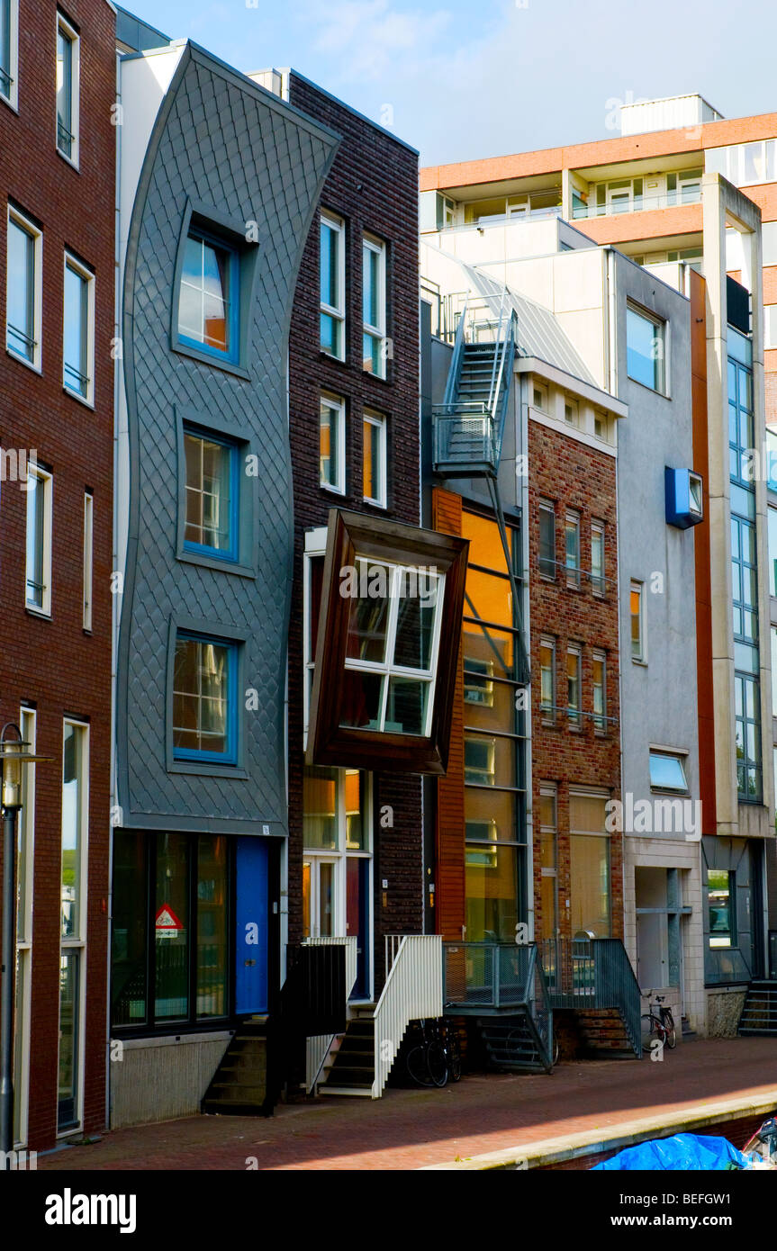 Lamonggracht, Java Eiland, Amsterdam, Holland, Netherlands - Stock Image