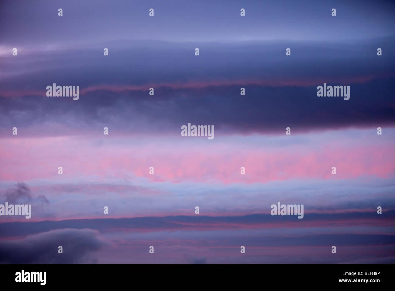 Sunset over Ambleside, Cumbria, UK. - Stock Image