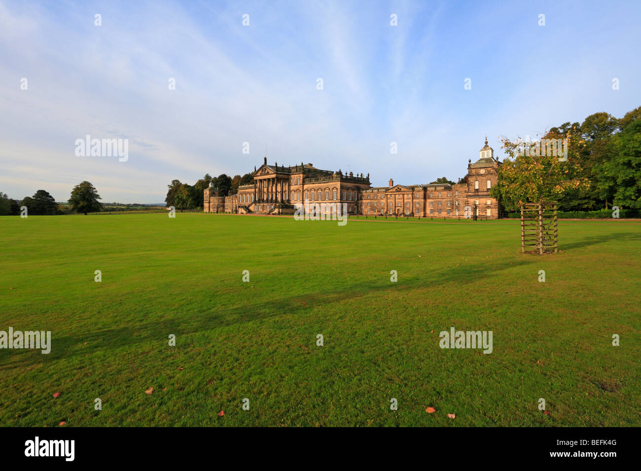 East frontage of Wentworth Woodhouse, Wentworth, Rotherham, South Yorkshire, England, UK. Stock Photo