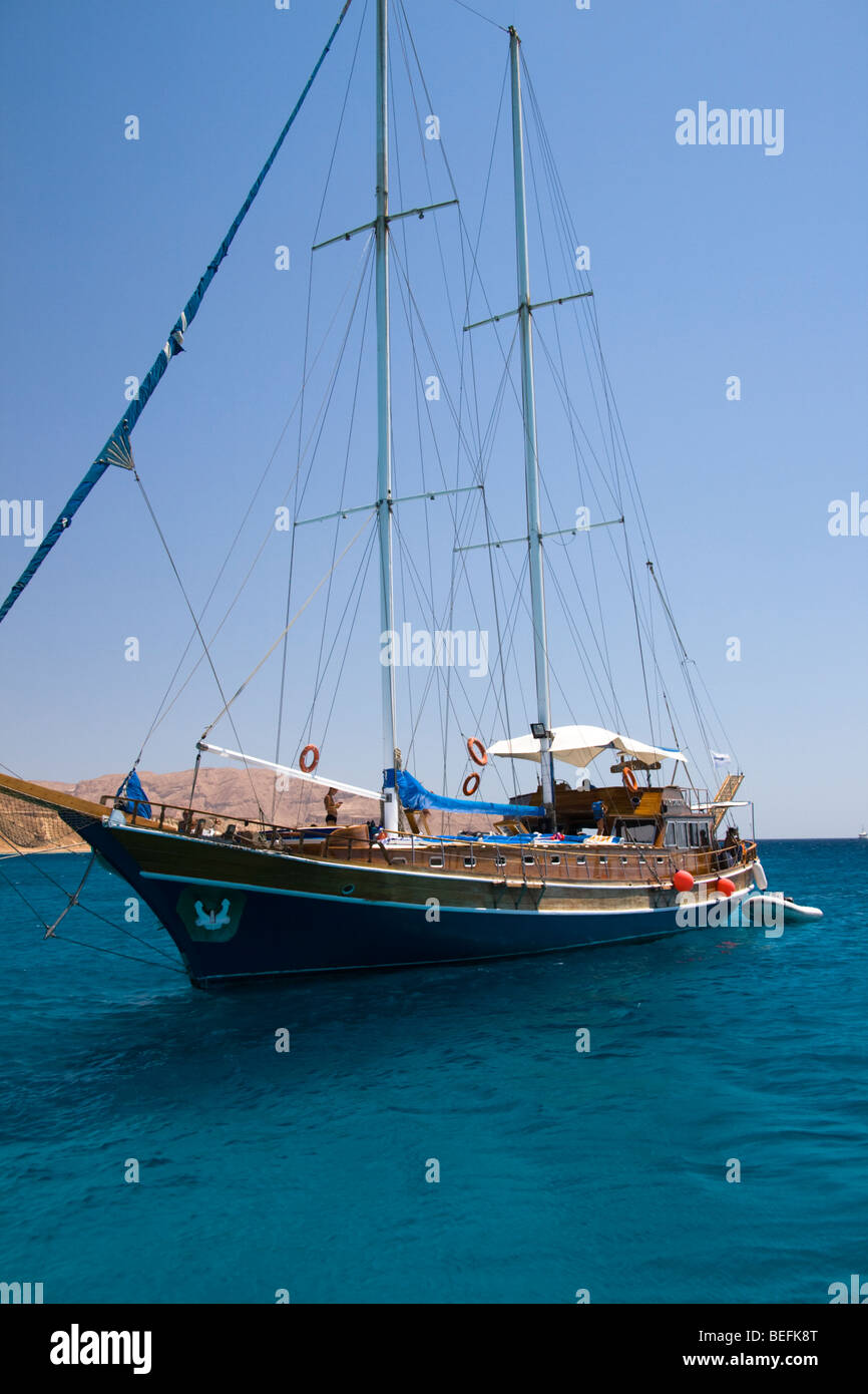 Sail boat, Red Sea, Egypt - Stock Image