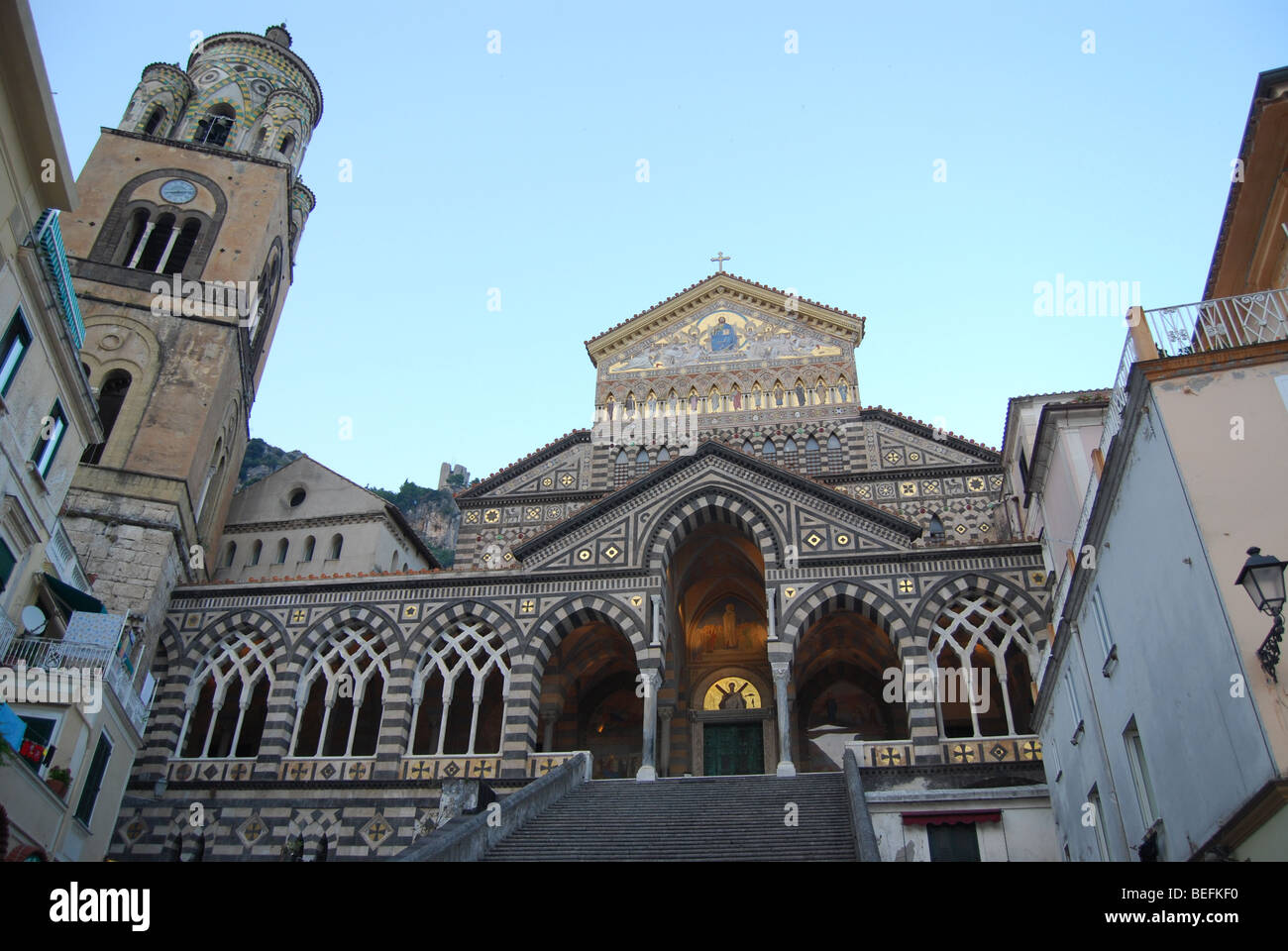 Amalfi town in Italy - 9th century cathedral - Stock Image