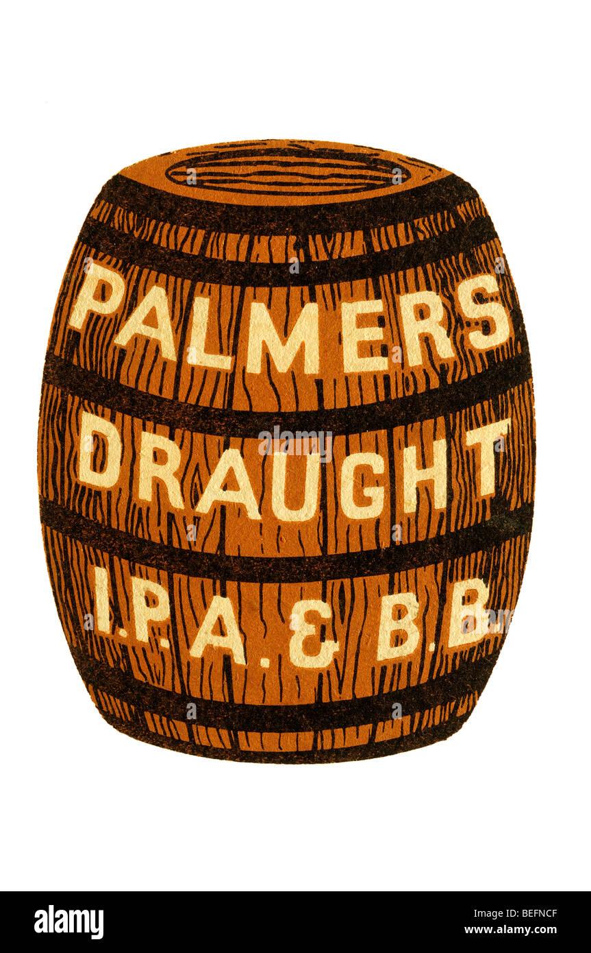 palmers draught i p a & b b Stock Photo