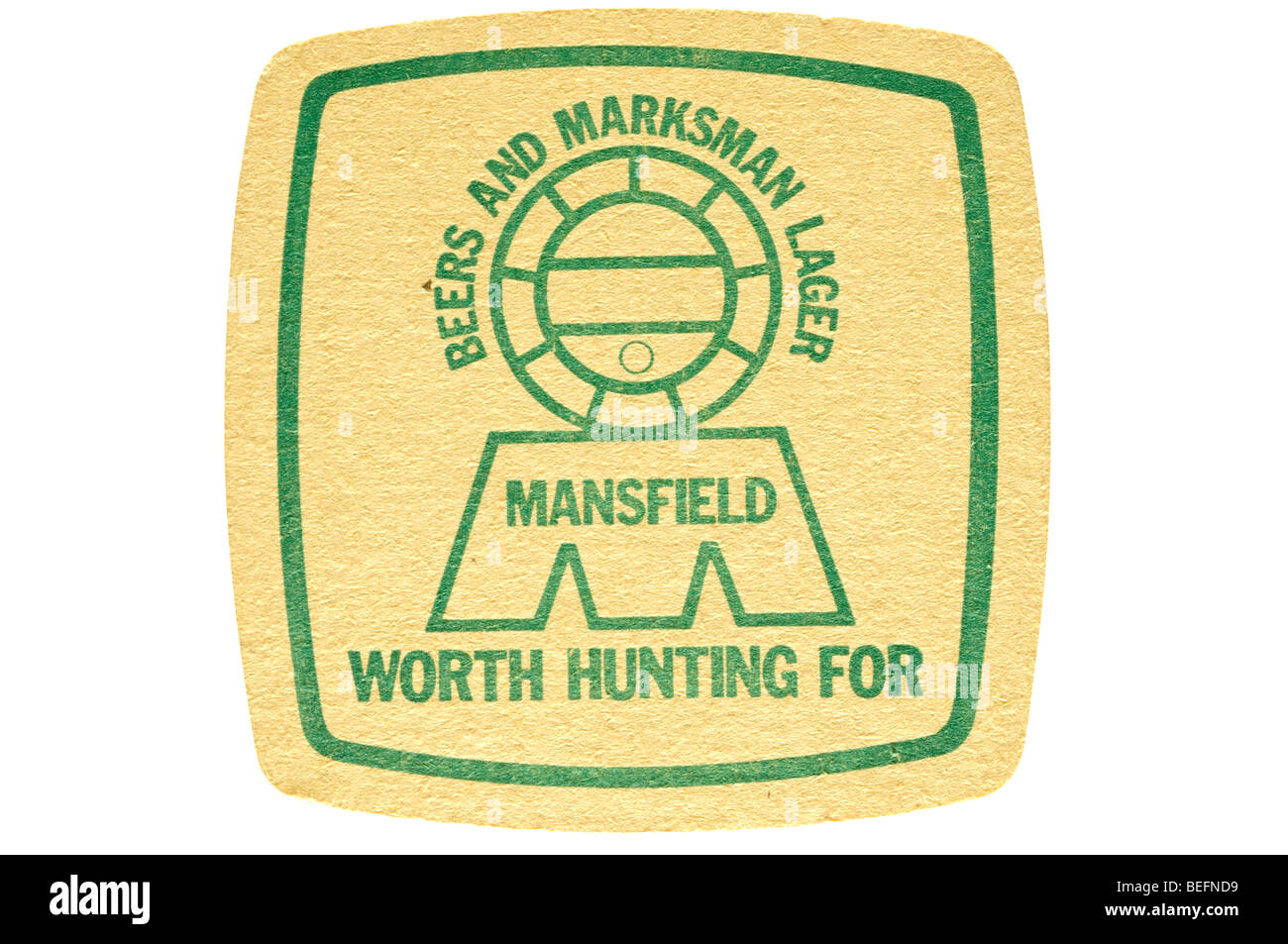 beers and marksman lager mansfield worth hunting for - Stock Image