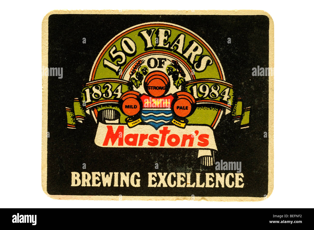 150 years of marstons 1834 1984 brewing excellence - Stock Image