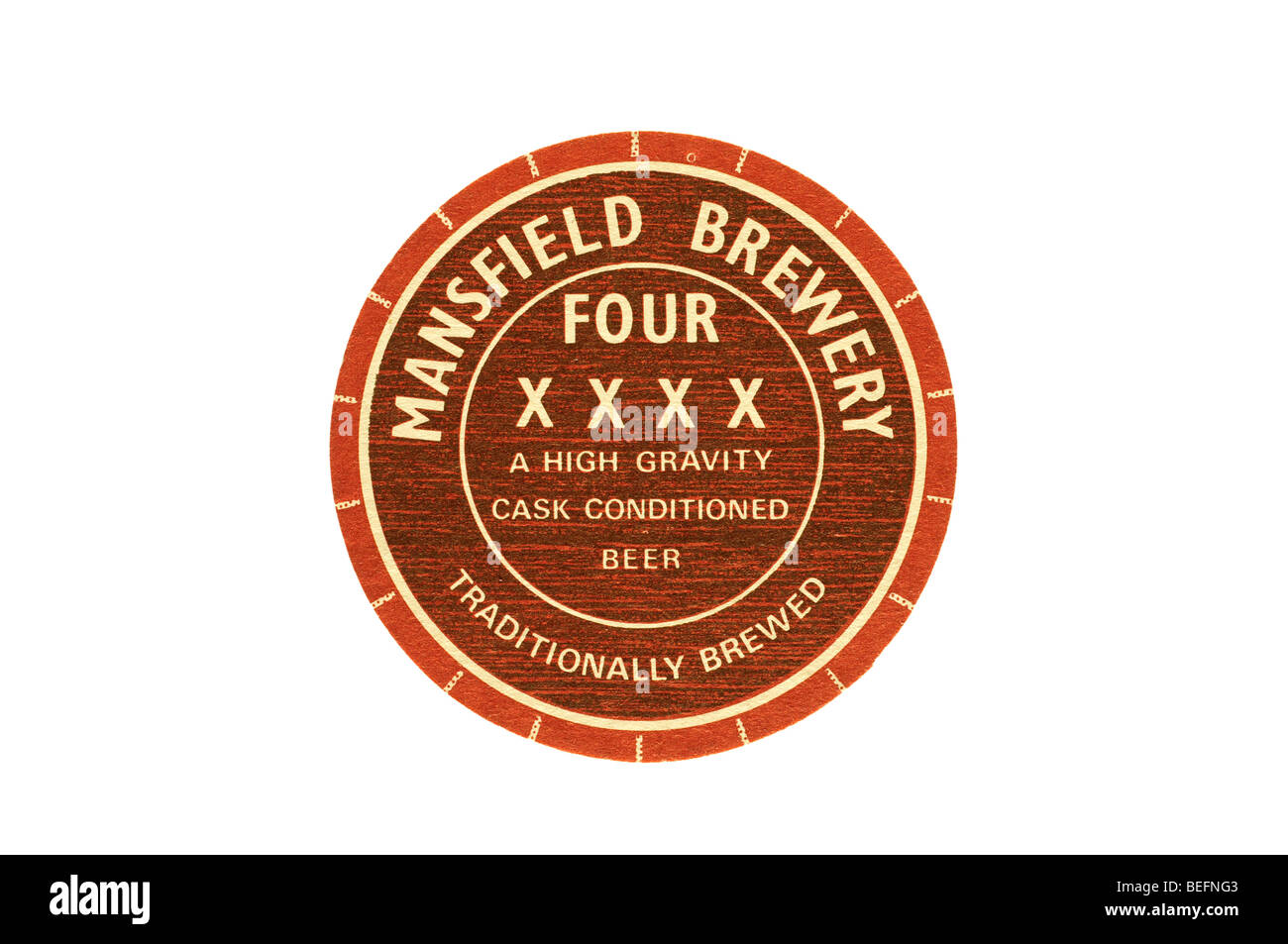 mansfield brewery four xxxx a high gravity cask conditioned beer traditionaly brewed - Stock Image