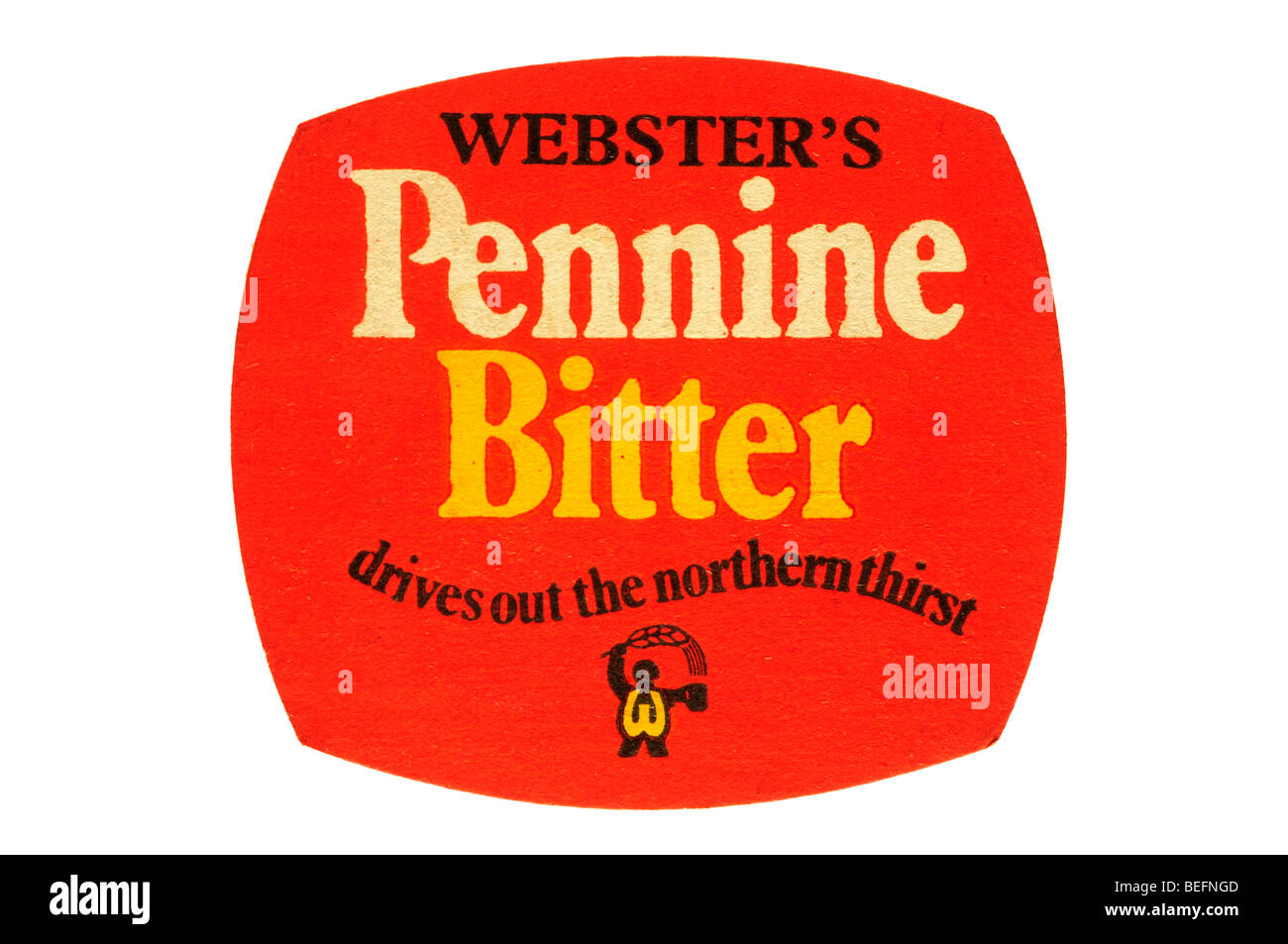 websters pennine bitter drives out the northern thirst - Stock Image
