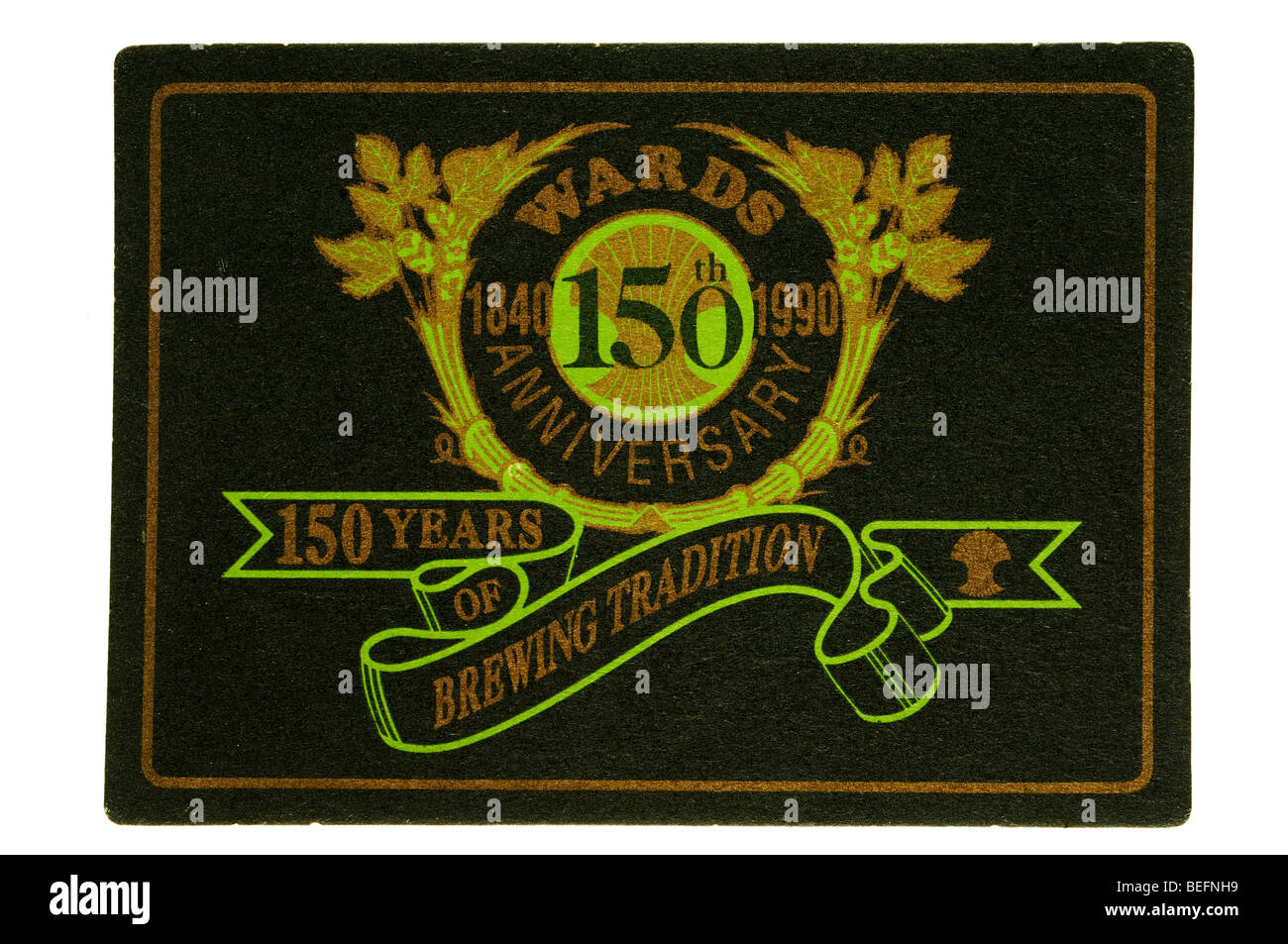 wards 150th anniversary 1840 1990 150 years of brewing tradition - Stock Image