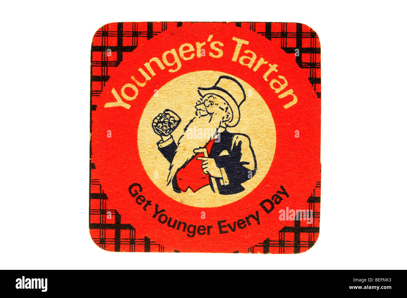youngers tartan get younger every day - Stock Image