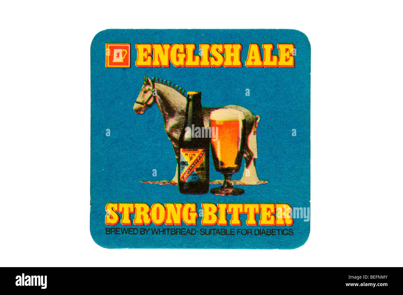 english ale strong bitter brewed by whitbread suitable for diabetics - Stock Image
