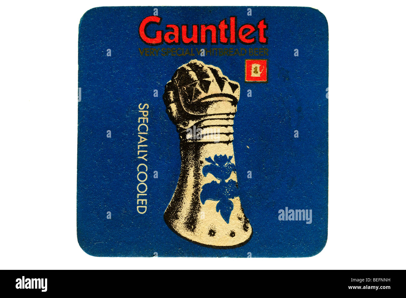 gauntlet very special whitbread beer specially cooled Stock Photo