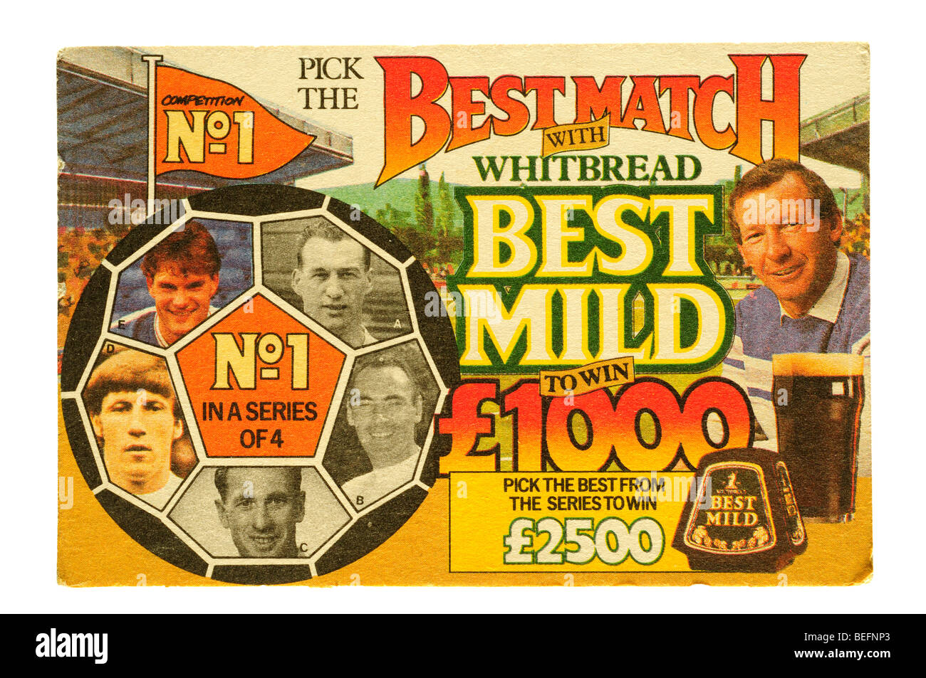 pick the best match with whitbread best mild - Stock Image