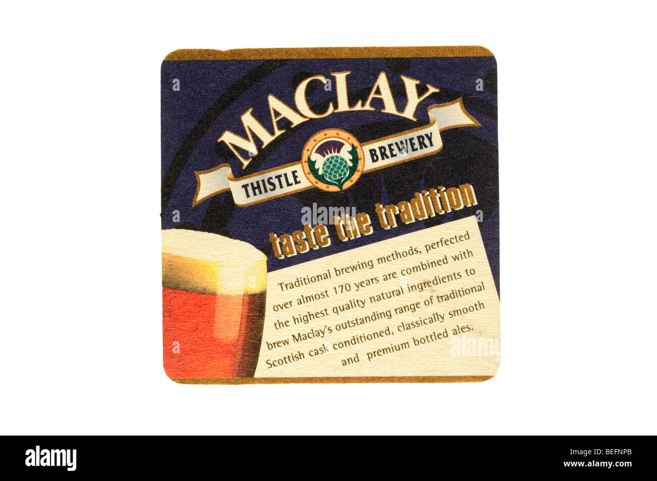 maclay thistle brewery taste the tradition - Stock Image