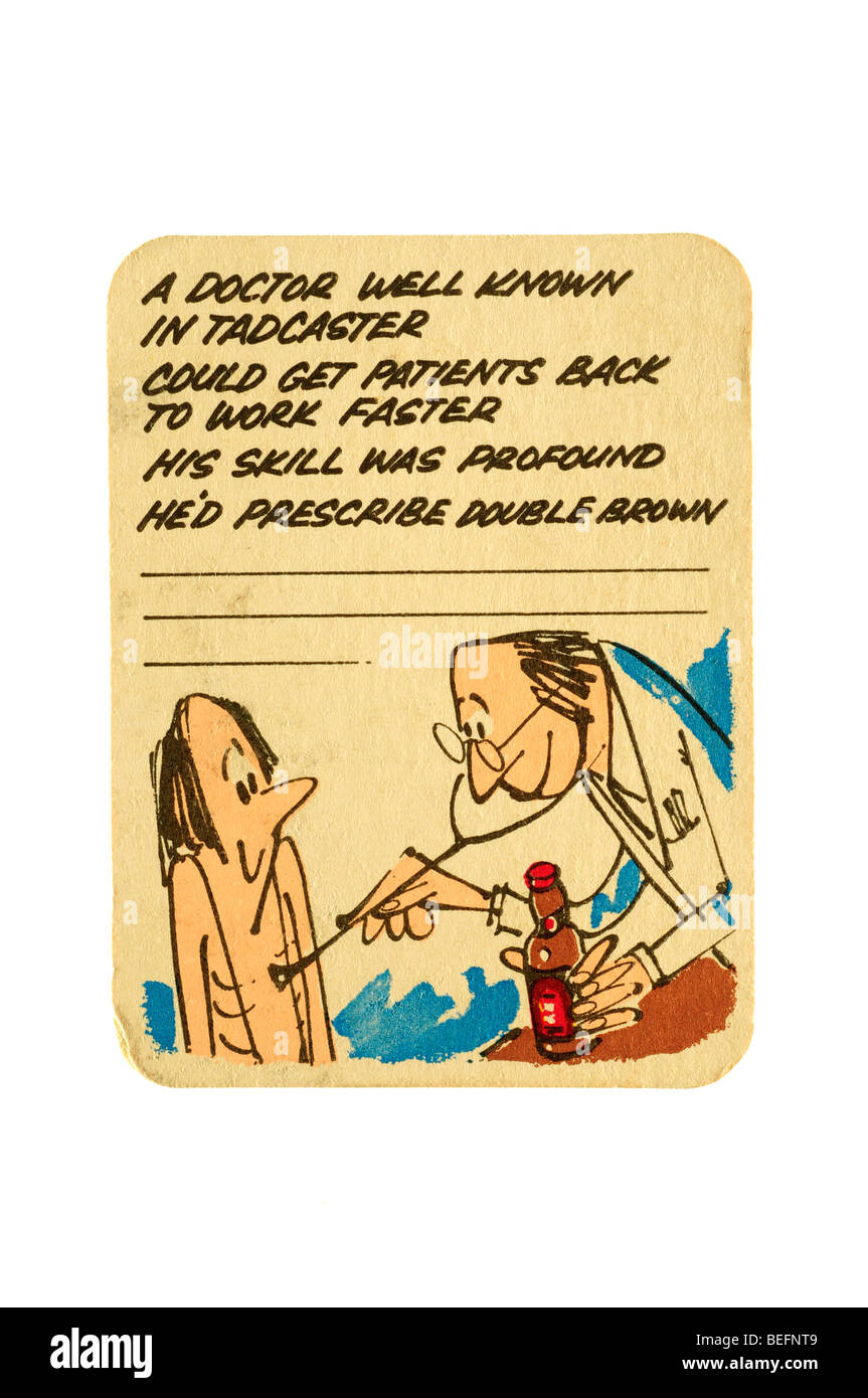 a doctor well known in tadcaster could get patients back to work faster his skill was profound he would prescribe - Stock Image
