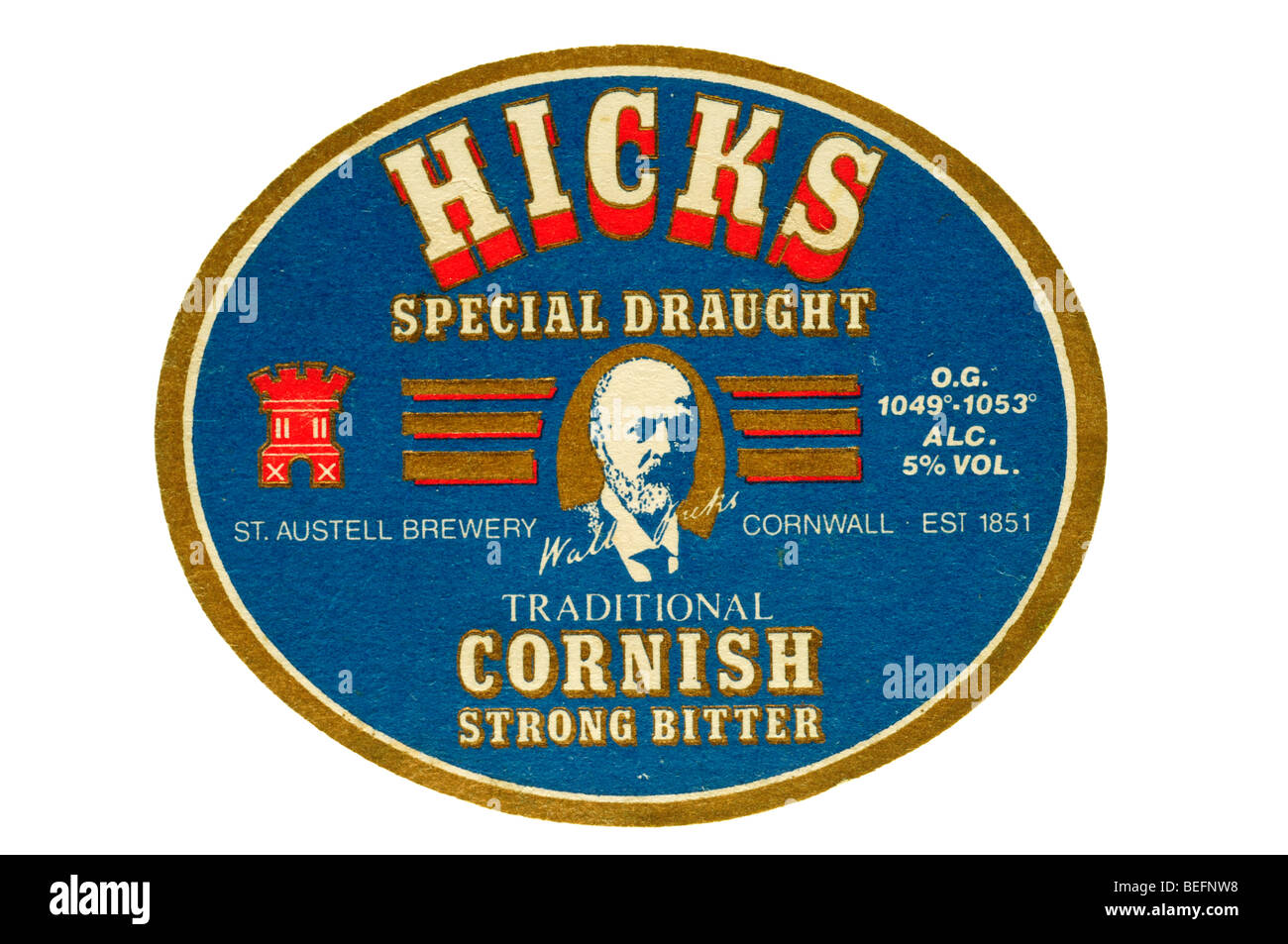 hicks special draught traditional cornish strong bitter - Stock Image