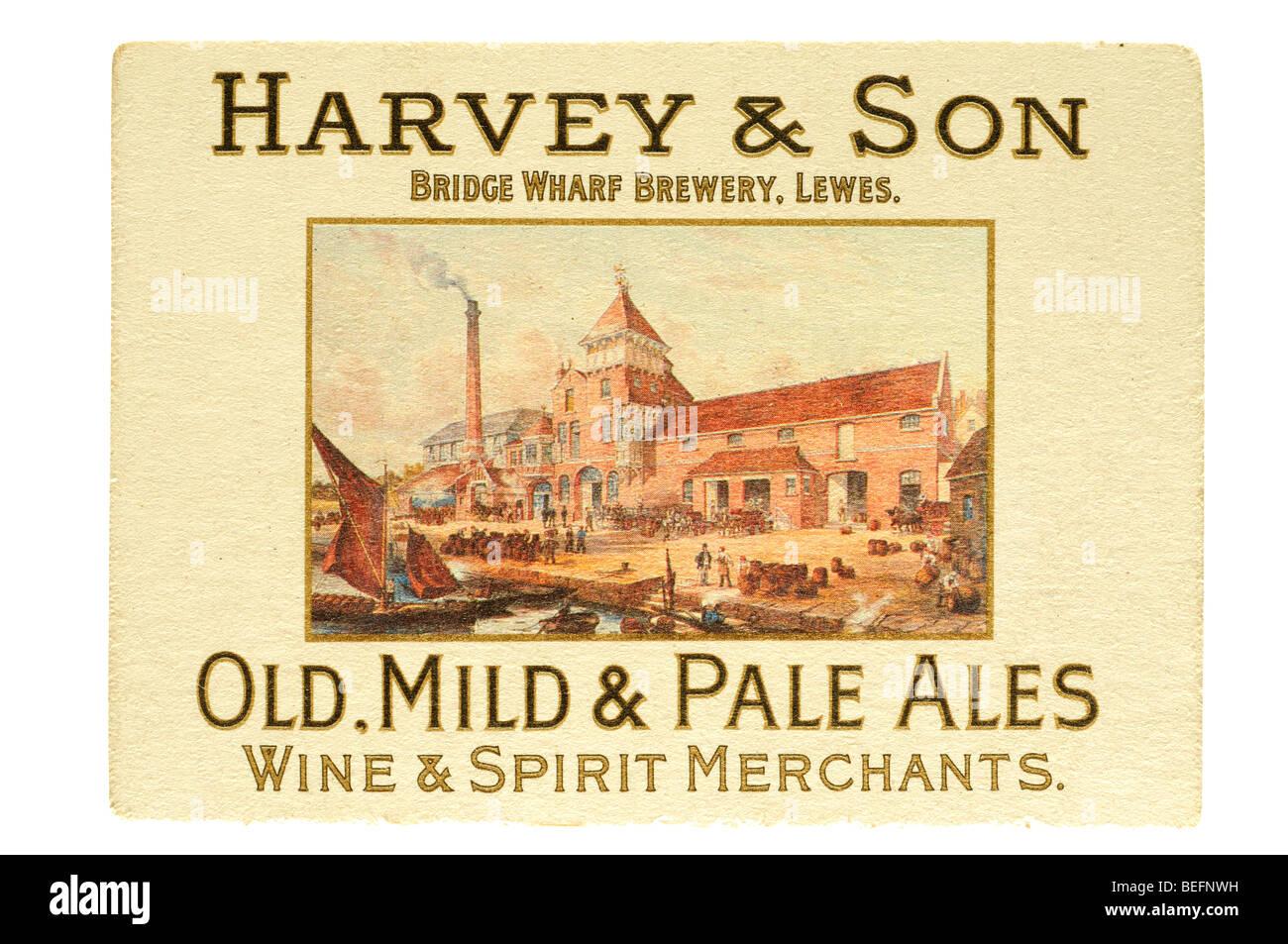 harvey & son bridge wharf brewery lewes old mild & pale ales Wine & spirit merchants - Stock Image