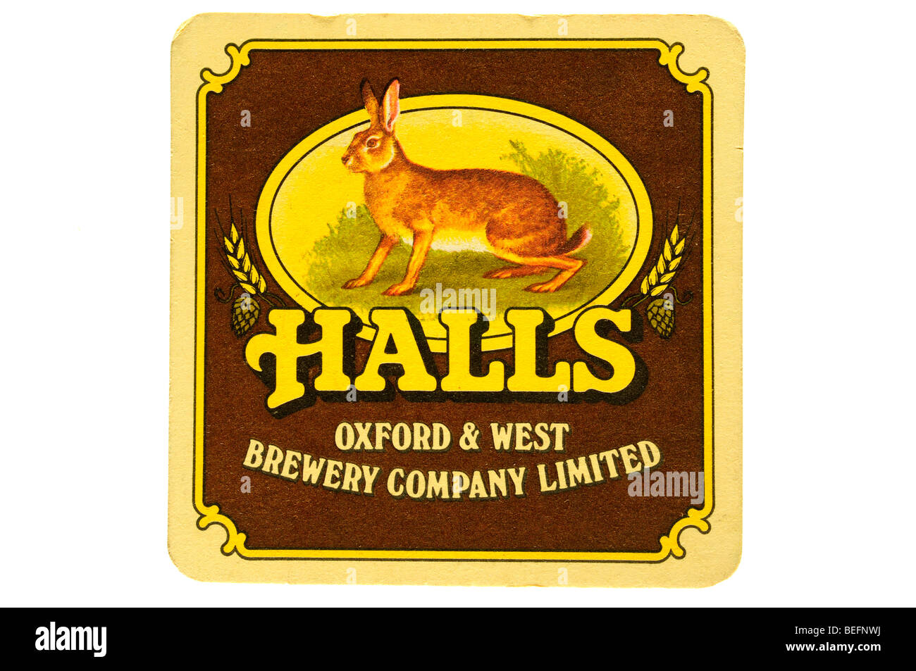 halls oxford and west brewery company limited - Stock Image