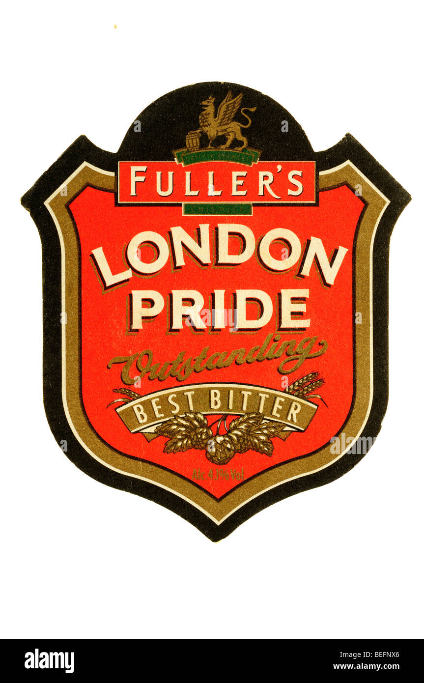 fullers london pride outstanding best bitter alc 4.3% vol - Stock Image