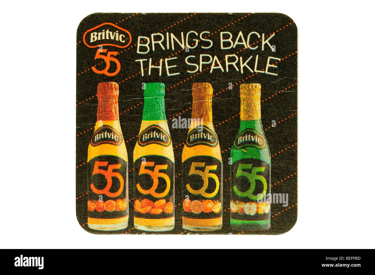 britvic 55 brings back the sparkle - Stock Image