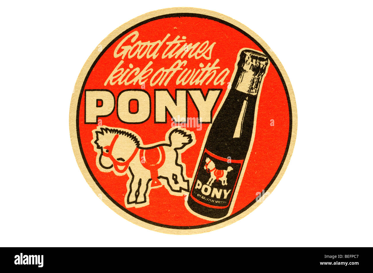 good times kick of with a pony - Stock Image
