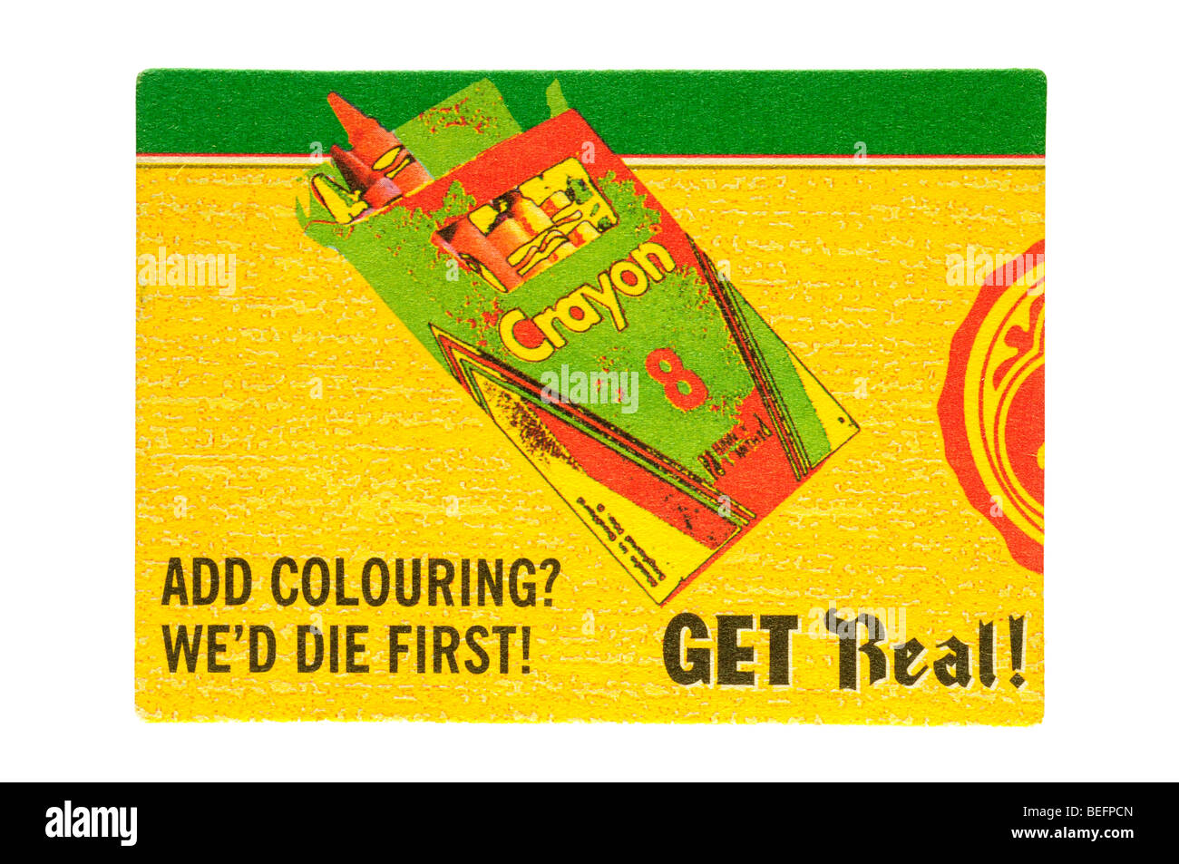 crayon 8 adsd colouring wed die first get real - Stock Image