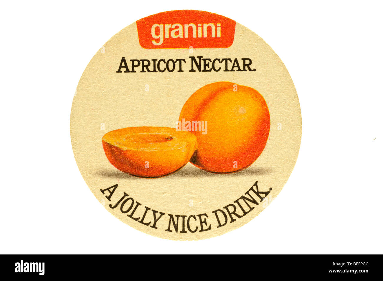 granini apricot nectar a jolly nice drink - Stock Image