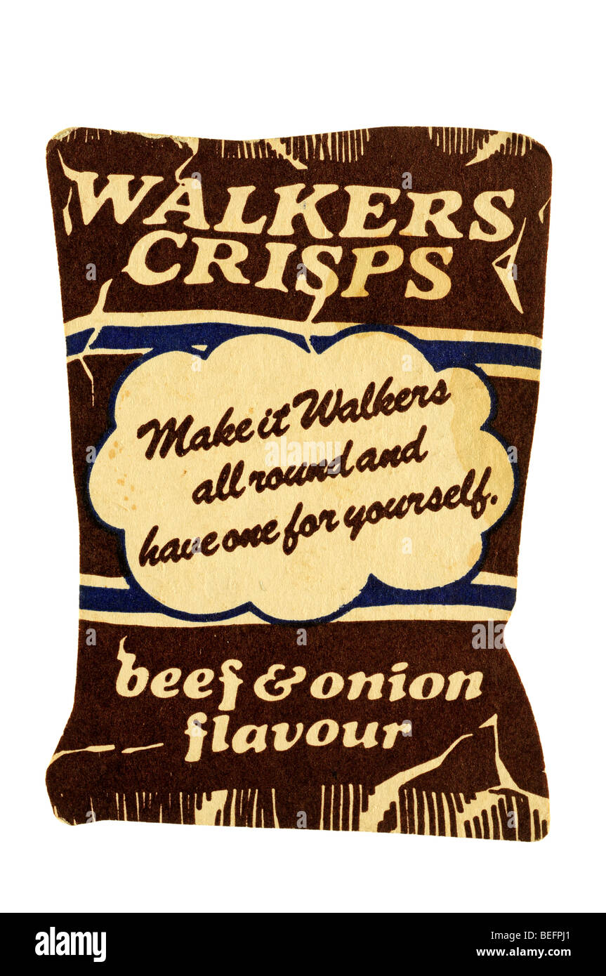 walkers crisps make it all round and have one for yourself beef and onion flavour - Stock Image