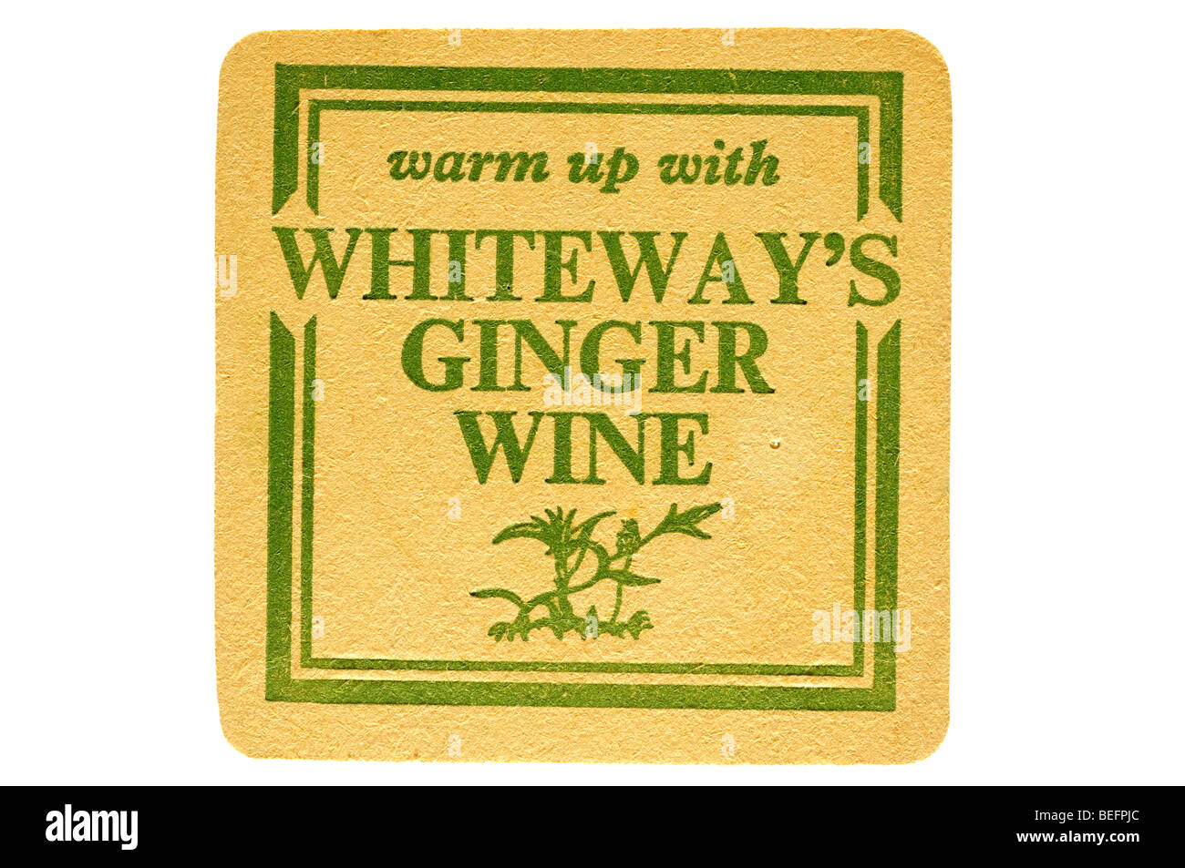 warm up with whiteways ginger wine - Stock Image