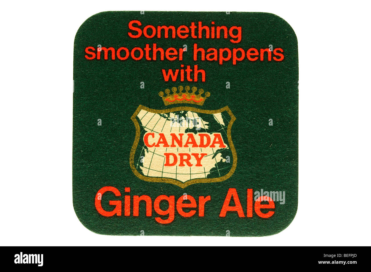 something smother happens with canada dry ginger ale - Stock Image