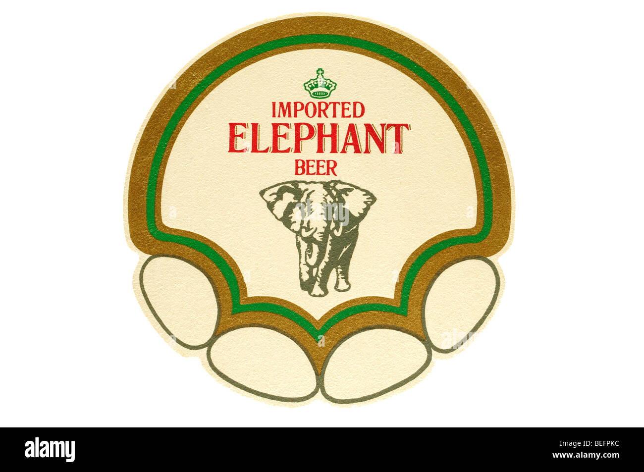 imported elephant beer - Stock Image