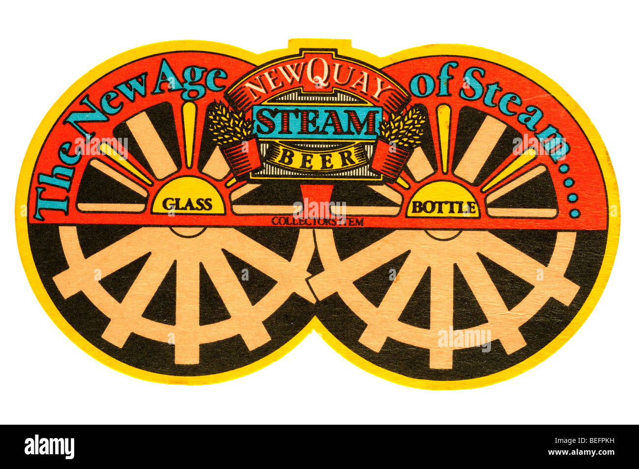 the new age of steam new quay steam beer - Stock Image