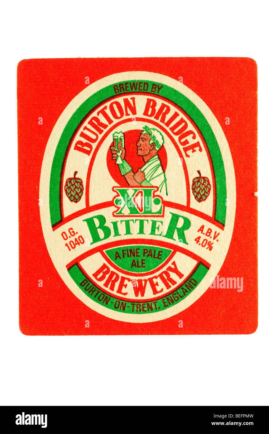 burton bridge XL bitter a fine pale ale brewery Stock Photo
