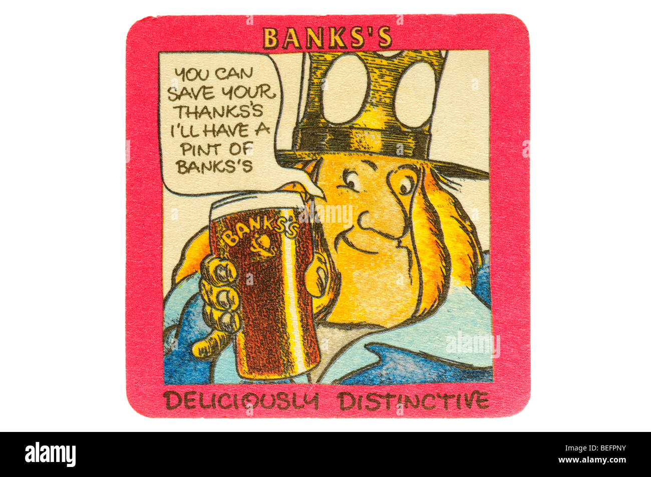 banks's you can save the thanks ill have a pint of banks deliciously distinctive - Stock Image